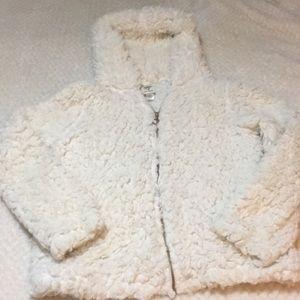 Women's fur self esteem jacket xlarge zip up